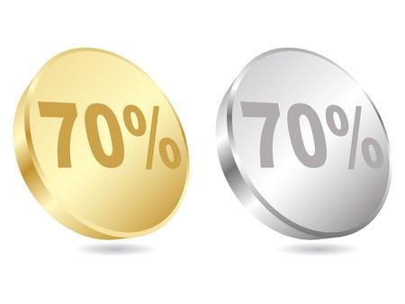 seventy percent discount vector illustration Stock Vector - 10568020