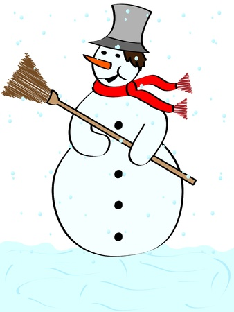 snowman vector illustration Vector