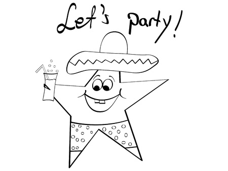 mexican star vector illustration
