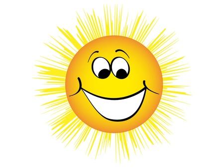 heureux illustration soleil vecteur
