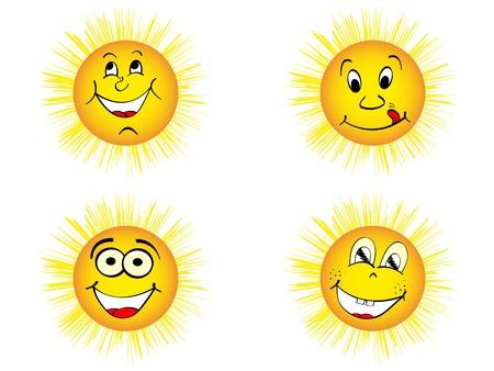 gelukkig zon vector illustratie
