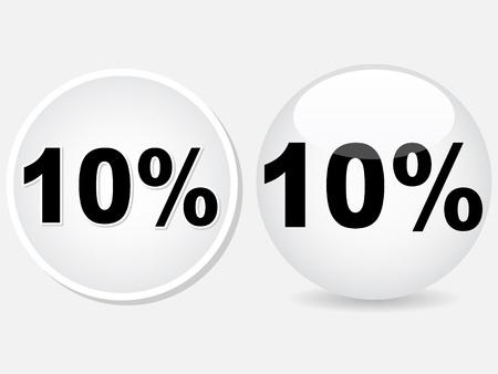 ten percent discount icon vector illustration Stock Vector - 10567906