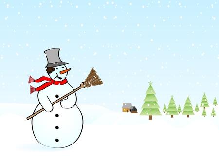 winter landscape vector illustration Vector