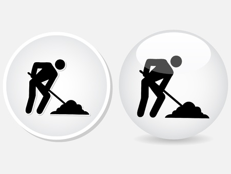 no gradient:  worker icons