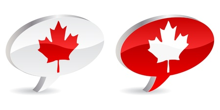 canadian icon vecotr illustration Vector