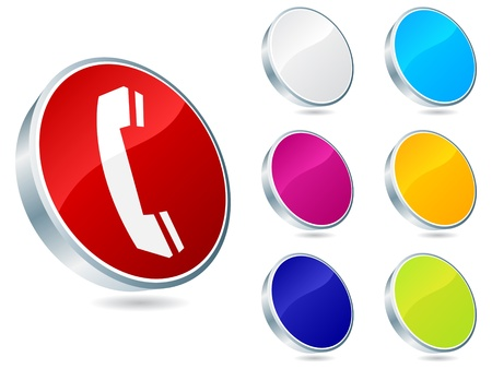 contact buttons different colors vector illustration Stock Vector - 10705956