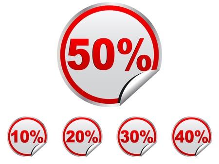 discount stickers vector illustration Stock Vector - 10705852