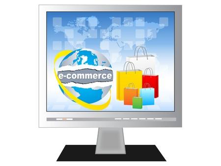 commerce electronique: �lectronique illustration commerce vecteur de concept