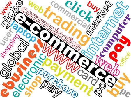 commerce electronique: �lectronique illustration commerce vecteur concept de