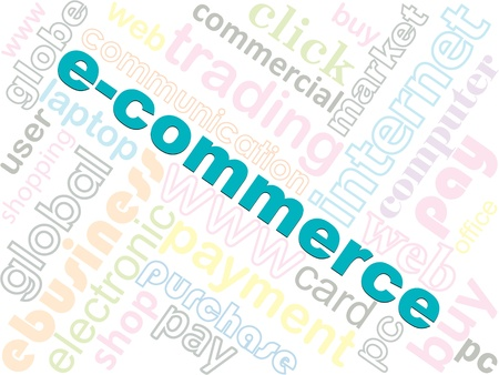 electronic commerce: Electronic commerce concept vector illustration