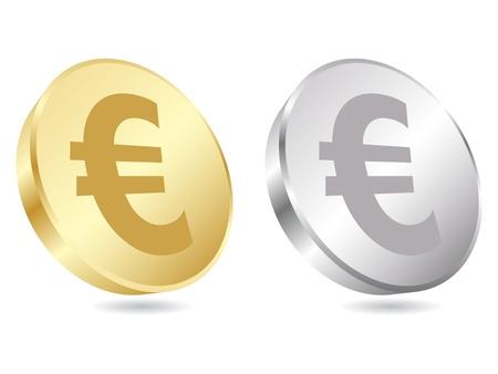 euro teken: Euromunten vector illustratie