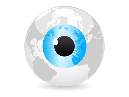 eye ball: spy the world vector illustration Illustration