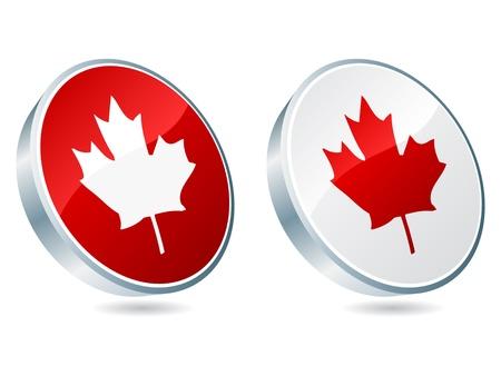 canadian icon vector illustration Stock Vector - 10705750