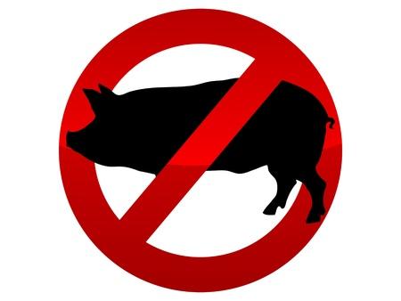 Forbidden icon swine flu virus vector illustration Vector