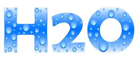chemical spill: h2o formula vector illustration Illustration