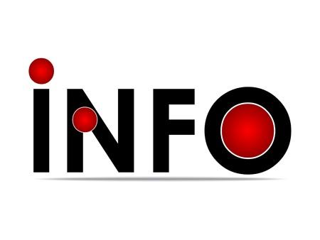 informer: information button vector illustration