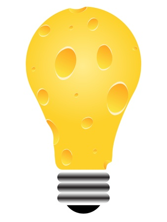 edison: piece of cheese vector illustration