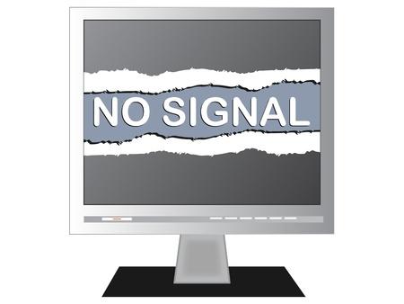 tele: No signal on a TV screen vector illustration