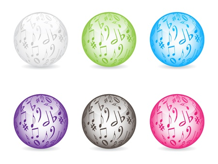 musical buttons different colors vector illustration Stock Vector - 10706120