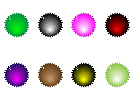 web buttons different colors Stock Vector - 10722797