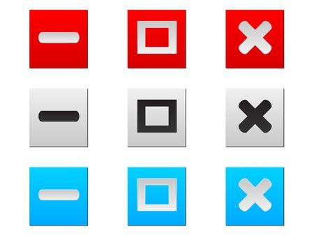 Web botones de ilustración vectorial Foto de archivo - 10706082