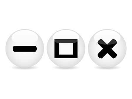 restore: white web buttons vector illustration