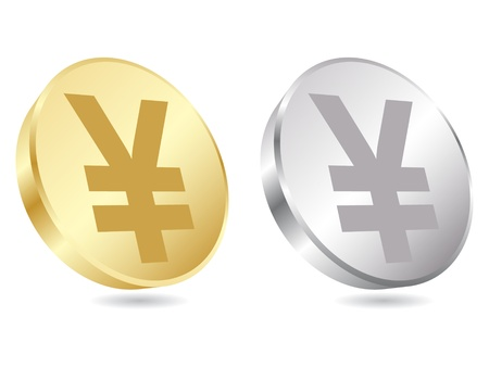 coins of yen vector illustration Stock Vector - 10705758