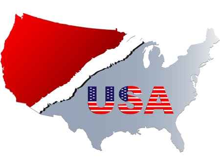 American map vector illustration Stock Vector - 10738237