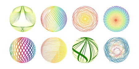 Colorful balls made of lines Vector