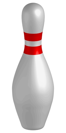bowling pins vector illustration