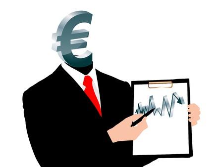 evolution of euro vector illustration Vector