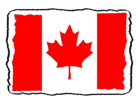 Flag of Canada vector illustration Vector