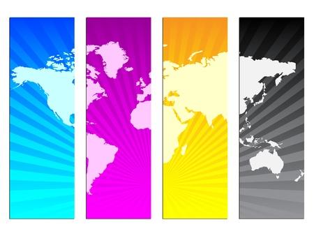 inkjet: ilustraci�n vectorial de los colores CMYK Vectores