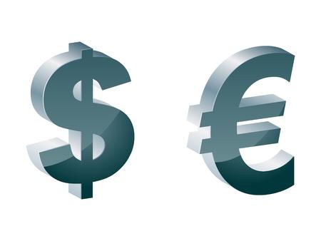 comunity: dollar and euro icon Illustration