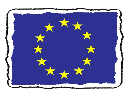 Flag of EU vector illustration Illustration