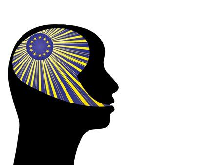 european citizen vector illustration Vector