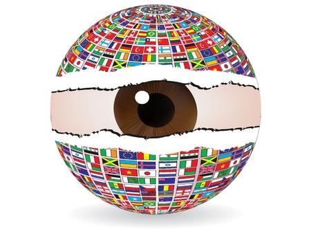 abstract eye vector illustration Stock Vector - 10740904