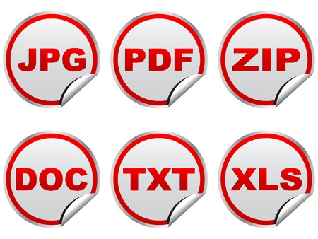 txt: Files illustrazione Vettoriali