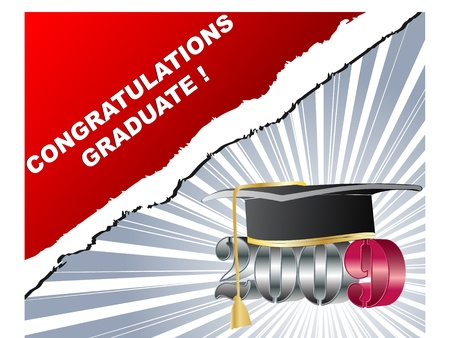 2009 graduation concept vector illustration Vector