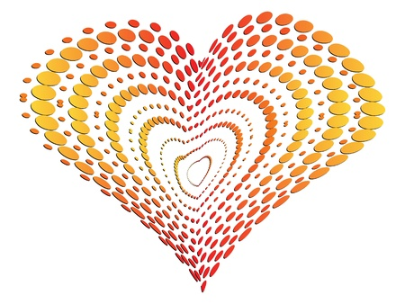 Doted heart Vector