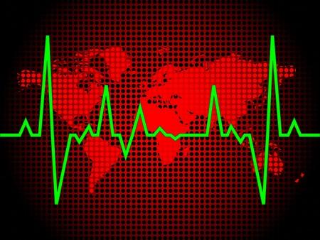 heart pulse of world vector illustration Vector