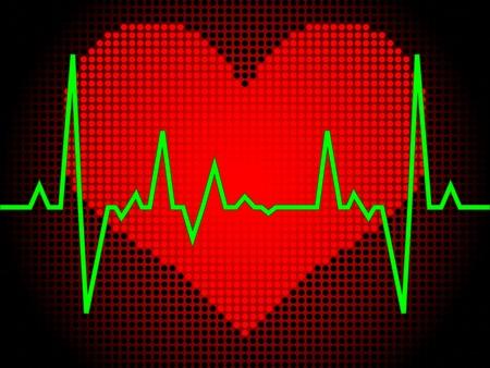 heart pulse vector illustration Vector