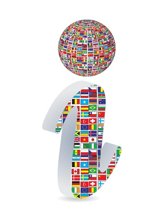 informer: Modern web button - information Illustration