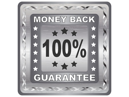 money back: 100 % GUARANTEE label vector illustration