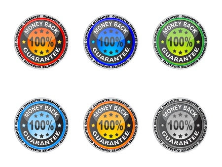 100 % GUARANTEE label vector illustration Vector