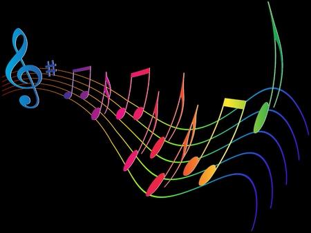 Kolorowe element muzyczny projekt