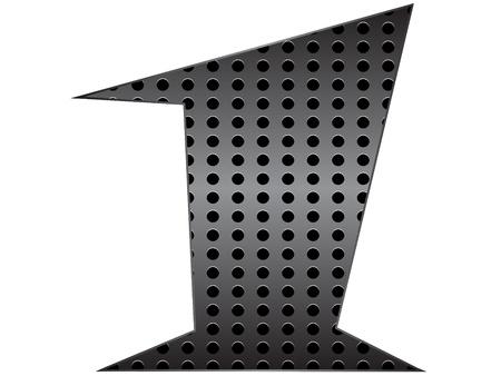 Number one metallic texture vector illustration Stock Vector - 10738198