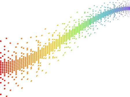 píxeles ilustración vectorial