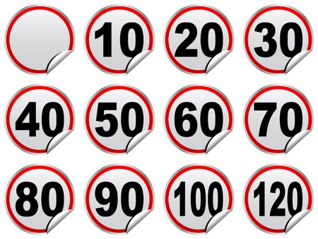 speed limit signs vector illustration Stock Vector - 10740464