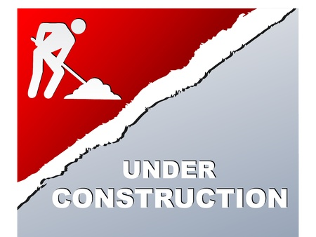 under construction page Vector